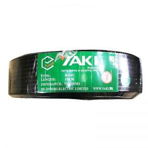 """CABLE COAXIAL TV100M""""YAKI""""1.0CGS+4.7PPE+AL+160CCAM+6.8PVC"""