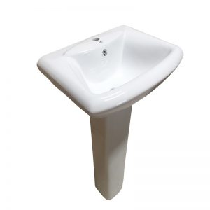 Lave main avec colonne