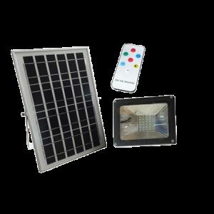 PROJECTEUR LED SOLAIRE AVEC PANNEAU+TELECOMMANDE 6V/10W