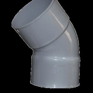 COUDE PVC GRIS 100MM F/F 25°