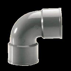 COUDE PVC GRIS 100MM M/F 90°