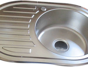 EVIER INOX SIMPLE BAC ROND QUALITE