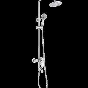 BARRE DE DOUCHE EN INOX HAUT ROND AVEC FLEXIBLE+TELEPHONE