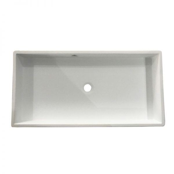 Vasque acrylique rectangle à poser