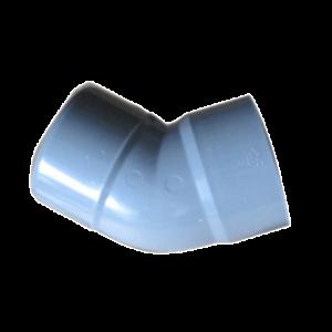 COUDE PVC GRIS 100MM M/F 45°