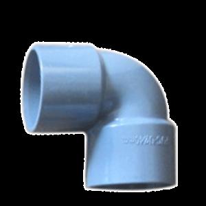 COUDE PVC GRIS 40MM M/F 90°