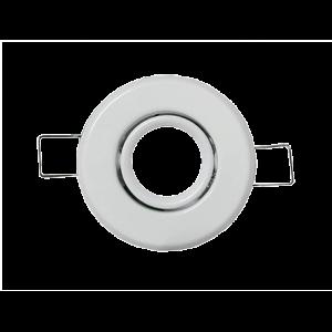 SUPPORT SPOT LED ROND COULEUR BLANC CULOT GU10 MR11